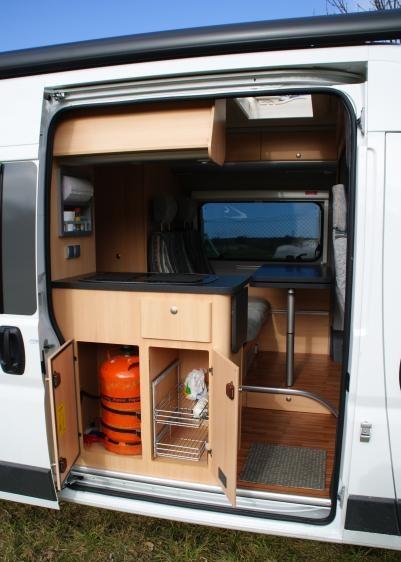 Instalacion de gas para furgoneta camper con acceso exterior