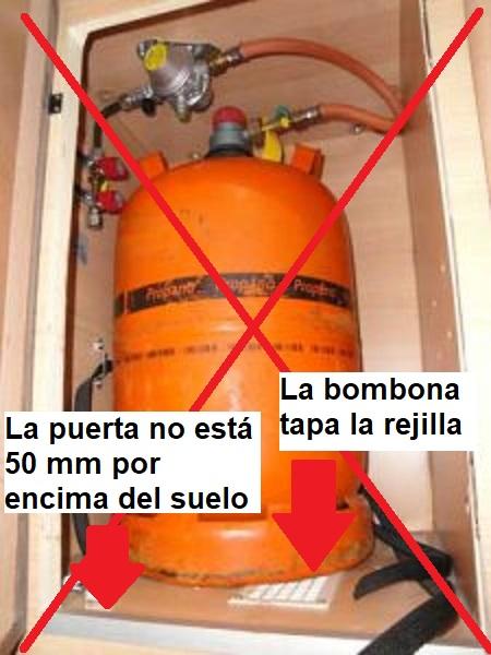 Instalación de gas camper No Ok