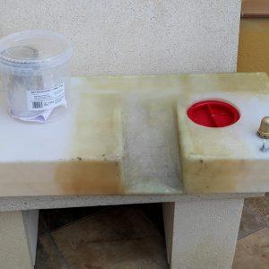 Depósito de agua camper modificado
