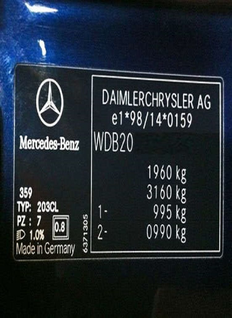 Placa del fabricante